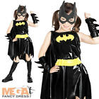 Batgirl Girl's Fancy Dress Up Halloween Kids Superhero Costume Outfit Ages 3-10