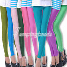Neon Candy Shiny Bright Fluorescent Glow Stretch Tights Leggings Pants 30 Colors