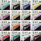 5M*1.35M Sheer Organza Swag DIY Fabric Wedding Top Table Decor Stair Bow Valance