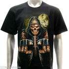 r122 Rock Eagle T-shirt Tattoo Grim Dead Skull Demon Ghost Retro Loser Ghoul Tee
