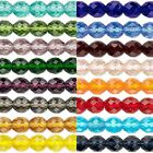 Huge Wholesale Lot of 600 Transparent Czech Glass Round Fire Polished Beads