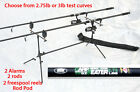 2 Carpbeater Carp rods,2 Freerunner reels,2 Alarms & rod pod many value options