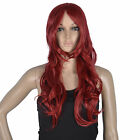 New Long Red Cosplay Party Straight Wig Cosplay Fashion Wig Hair