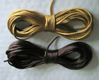 10 Metres X 2mm RATTAIL CORD Satin Nylon Choice of ANTIQUE GOLD or BROWN