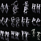 New Classic Men's Stainless Steel Person Initial Letter Cufflinks, Letter A To Z