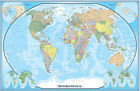 World Wall Map Mural Poster Classic Blue Edition by Swiftmaps