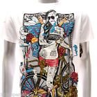 m113w Minute Mirth T-shirt Sz S M L XL Tattoo Rock Skull Sexy Lady Rider Hip Hop