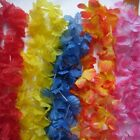 48 Garlands  Flower Lei, tropical  Hawalian party Fancy Dress 11 Colours