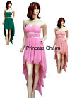 Formal Evening Cocktail Bridesmaid Prom Dress Pink Green SZ 8 10 12 14 16 rp$149