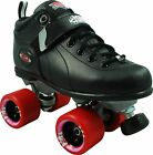 Outdoor Roller Skates Black Sure Grip Boxer With Fugitive Wheels - Men Size 1-14