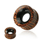 Pair (2) Organic Coco Wood & Buffalo Horn Ear Plugs Tunnels Earlets Gauges