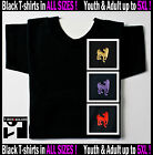 "Black Tee Chinese Zodiac Calendar 2013 Sign ""Dog"" Horoscope Sizes Youth - 5XL"