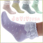 Vintage Ladies Princess Dot Ruffle Frilly Cotton Short Soft Lace Ankle Socks