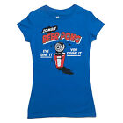 ZOMBIE BEER PONG t-shirt pop culture zombie drinking shirt LADIES SIZE S-XXL
