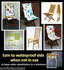 HIGH BACK DINING CHAIR CUSHION GARDEN FURNITURE ARMCHAIR waterproof reverse side