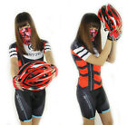 Red New Cycling Bike Women Bicycle Short Sleeve Jersey (Bib) Shorts Set S-3XL
