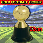 PLASTIC GOLD SPORTS AWARD TROPHY 12cm FOOTBALL SOCCER WINNERS CUP FIRST PLACE