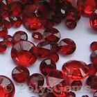 RUBY RED WEDDING TABLE DIAMONDS SCATTER CRYSTALS