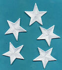 """2"""" Embroidered Star Patches - Set of 5: Your choice of colors"""