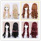 22''pin-up long Classic Spiral wave lolita party cosplay hair wig Mulitple ZY06