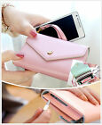 7 Colors Fashion Woman Card bag Colorful Purse Lady Clutch Wallet PU Leather Bag