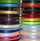 6mm x 20m double sided satin ribbon FULL ROLLS PLENTY OF COLOURS AVAILABLE