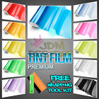 "12 Colors !! 12""x48"" Smoke Headlight Taillight Fog Light Tint Film Vinyl Wrap"