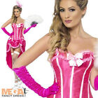 Pink Burlesque Dancer Ladies Fancy Dress Moulin Rouge Can Can Womens Costume