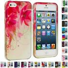 Color Flower Heart Design Hard Snap-On Rubberized Case Cover for iPhone 5 5G 5th