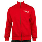 Mens Nike Cotton Fleece Red Team Track Suit Top Retro Sports Jacket