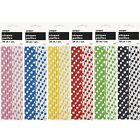 Polka Dot Paper Straws - Party Tableware - Choose Colour From List