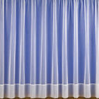 White Plain Voile Net Curtain Deep Border Great VALUE