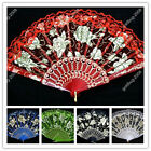 5 Color Select Lace Wedding Bride Quinceanera Party Hand Folding Fan Decoration