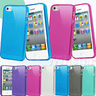 ULTRA THIN GEL TPU CRYSTAL CLEAR MATTE CASE COVER FOR  IPHONE 4 4S FREE FILM
