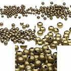 Huge Lot of 500 Antique Brass Finished Steel Metal Round Spacer Accent Beads