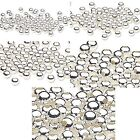 100 Shiny Silver Finished Steel Metal Round Spacer Accent Ball Beads Small - Big