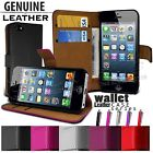 ULTRA SLIM LUXURY LEATHER WALLET CASE COVER FITS APPLE IPHONE 5
