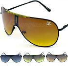 DG Sunglasses Aviator One Piece Lens Yellow Green Silver Turbo Retro 8DG7337S
