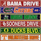 """NCAA College Street Sign Ave Drive 4"""" x 24"""" - Pick Team"""