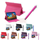 "Universal 10"" 10.1"" Android Tablet Case Folio PU Leather Cover Stand Stylus Pen"