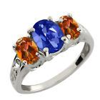 2.70 Ct Oval Sapphire Blue Mystic Topaz Gemstone Sterling Silver Ring