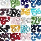 12 Big 14mm European Faceted Glass Round Rondelle Beads With Large 5mm Hole