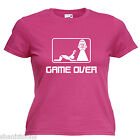 Game Over Bride Hen Party Ladies Lady Fit T Shirt 13 Colours Size 6 - 16