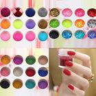 12 Colour Nail Art Glitter Decoration Dust Powder And Caviar Beads New