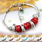 SL820 1p Tiberan Silver Natural Turquoise Red Corl Pink Quartz Bracelet Bangle