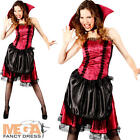 Sexy Victorian Vampiress Halloween Ladies Fancy Dress Womens Vampire Costume