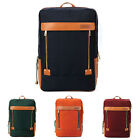 UNIHOOD Polyester Faux Leather Mens Rucksack Classic Backpack Bookbag Laptop Bag