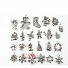Tibetan Silver Christmas Style Various Alloy Charm Pendants Hot Sale