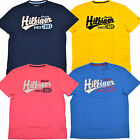 Tommy Hilfiger T Shirt Mens Crew Neck Graphic Tee Novelty Navy Blue Pink Th Nwt