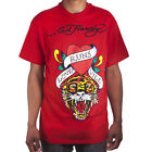 Ed Hardy Red Mens Love Kills Tiger Tattoo Graphic Tee Shirt